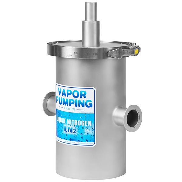 Ideal Vacuum Vapor-Pumping Angle Liquid Nitrogen Trap, LN2