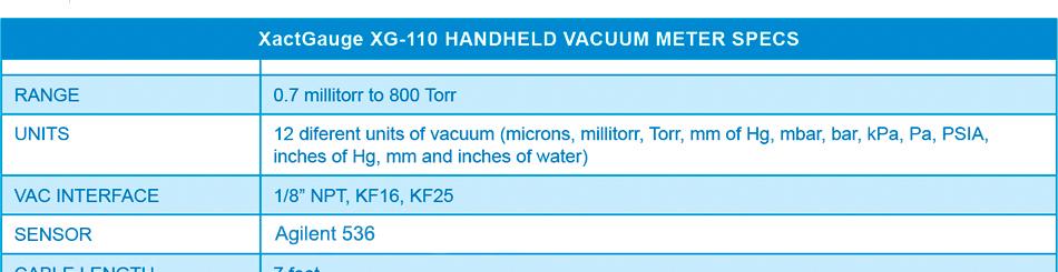 Ideal Vacuum | Ideal Vacuum XactGauge XG-110 Portable