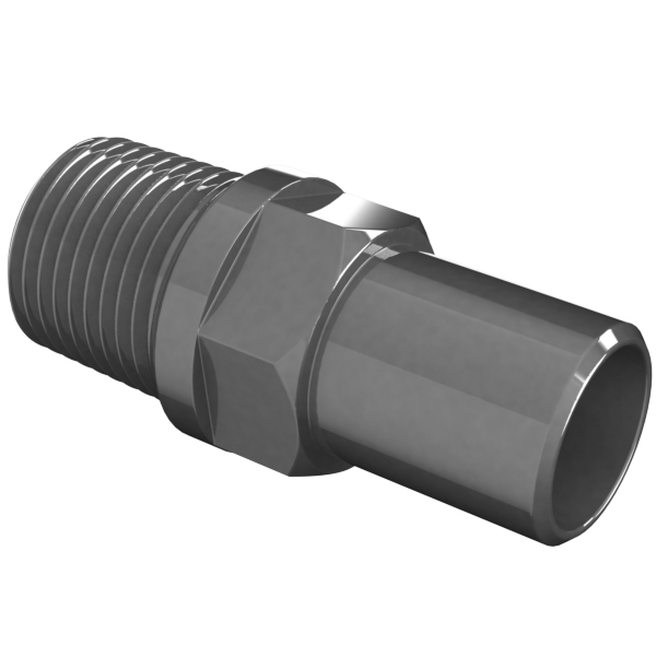 Vacuum fitting adapter inch id male npt to