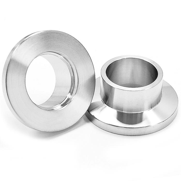 Half nipple short weld stub kf vacuum fittings iso