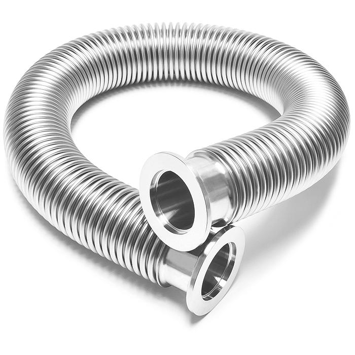Bellows hose metal kf inch thin wall tubing iso