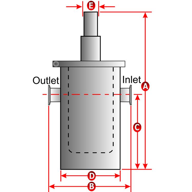 Ideal vacuum in line liquid nitrogen trap ln traps lnt