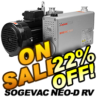 Leybold Sogevac Neo-D Dual Stage Rotary Vane Vacuum Pumps On Sale