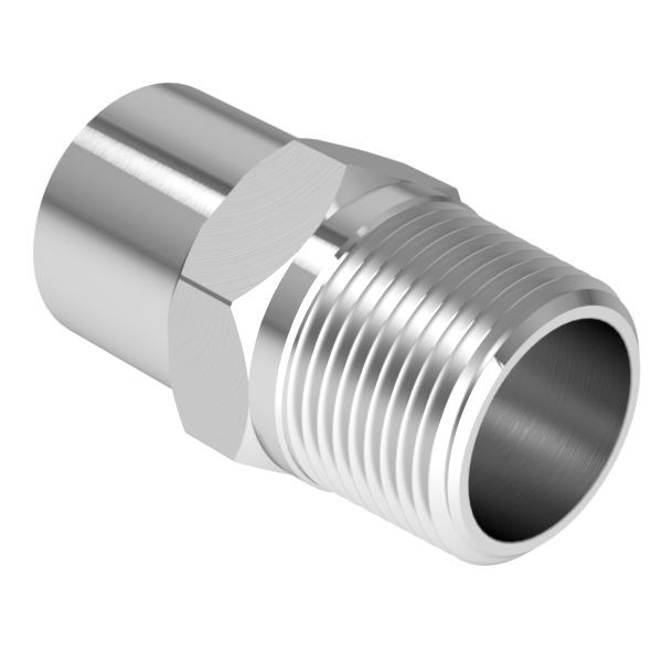 Vacuum fitting adapter inch mnpt to  id