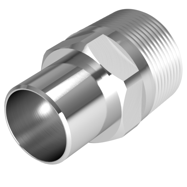 Vacuum fitting adapter inch mnpt to id pvc