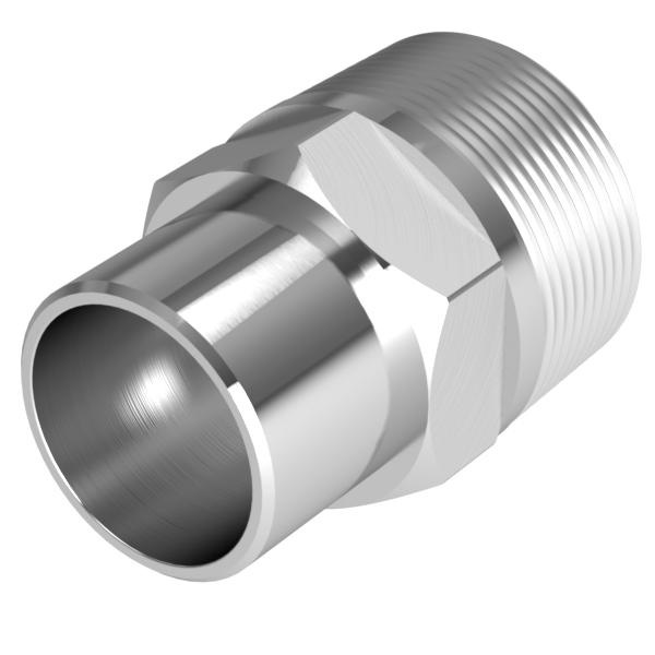 Vacuum fitting adapter inch mnpt to