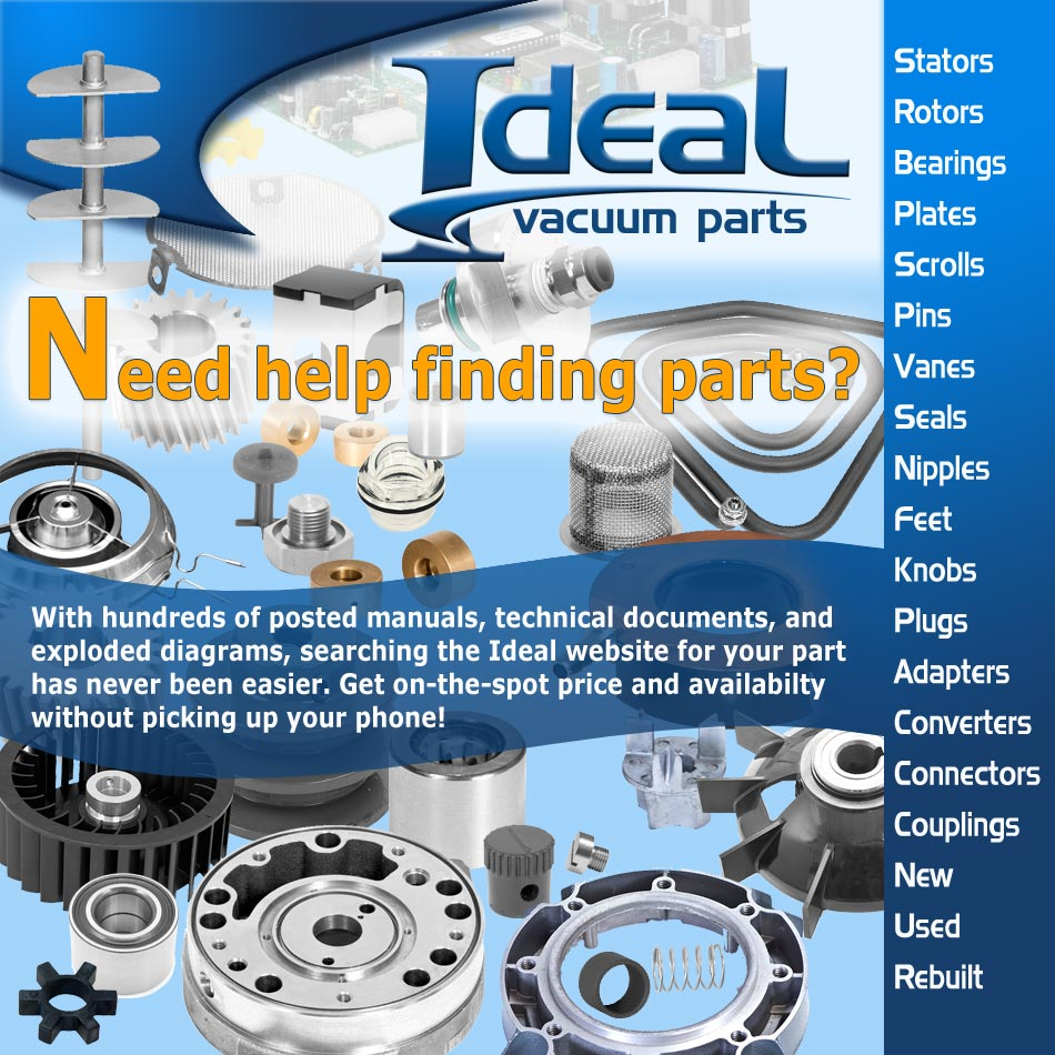 Ideal Vacuum | Welch 2563 Two-Head Rebuild Kit for Welch