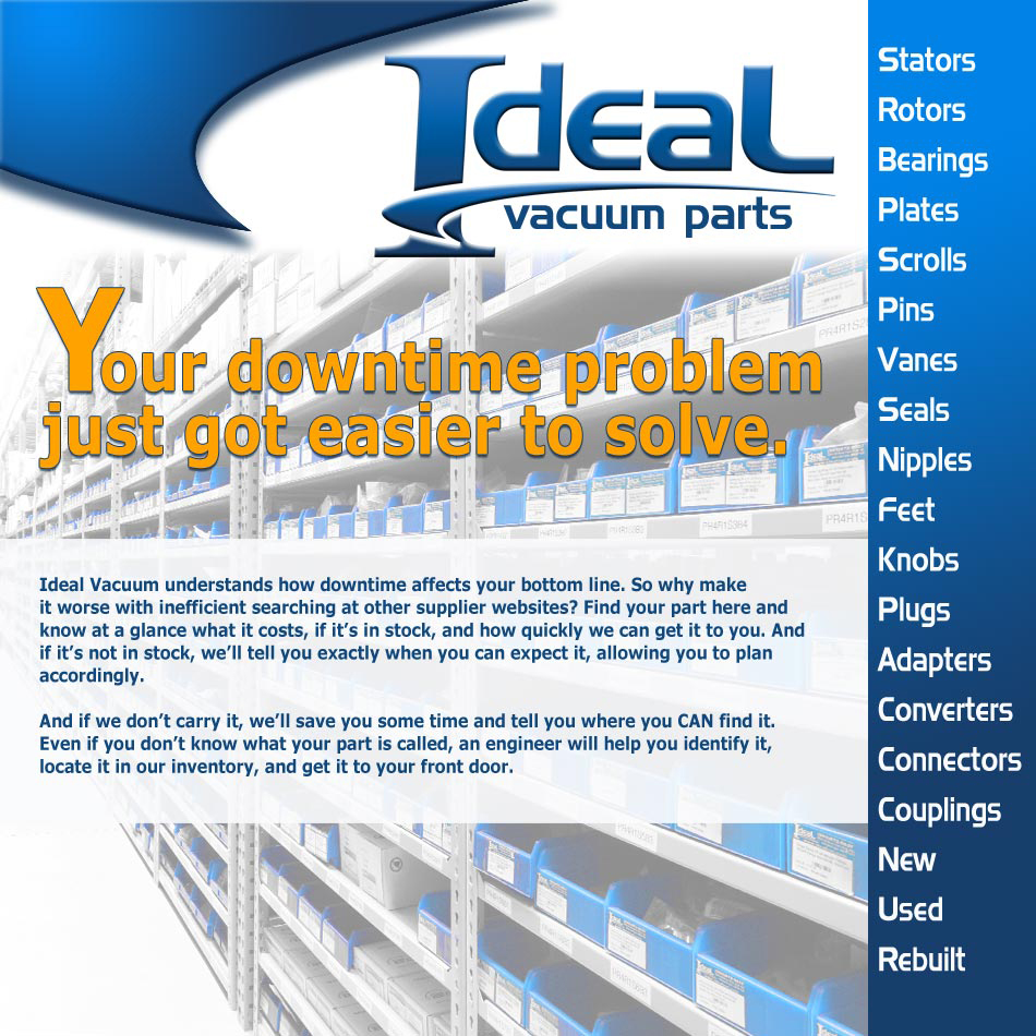 Ideal Vacuum Parts list A