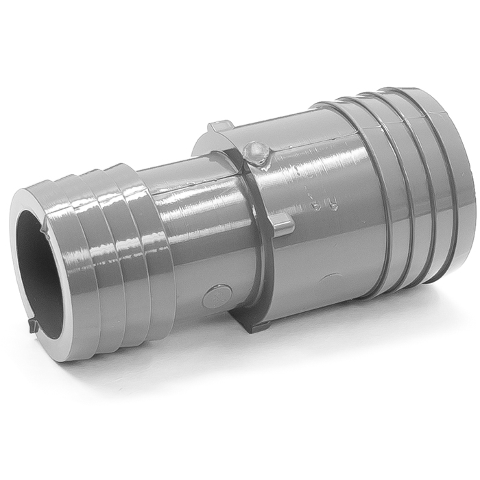 Adapter plastic coupling in id rubber hose barb to