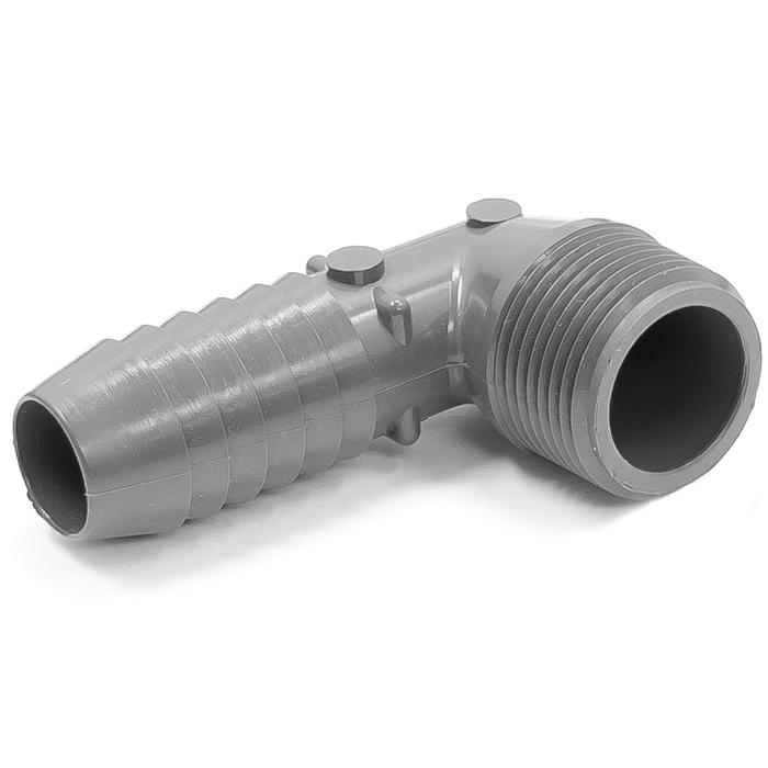 Ideal Vacuum | Adapter Plastic Elbow 90 degree, 3/4 in  ID Hose Barb