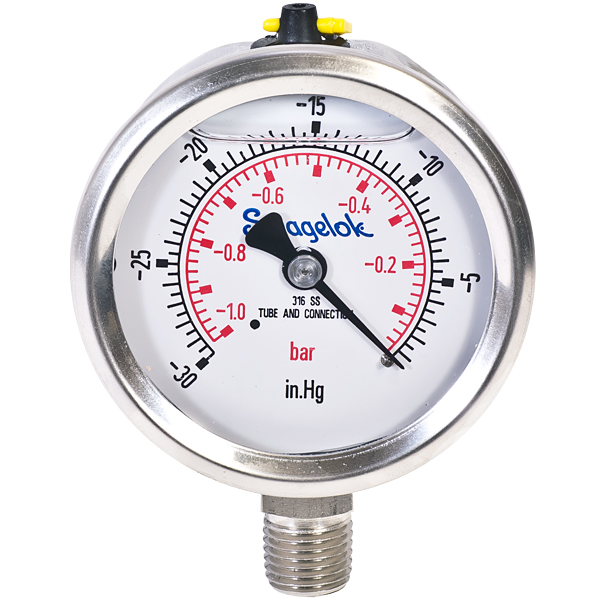 High Pressure Vacuum Gauge : Ideal vacuum dial gauges
