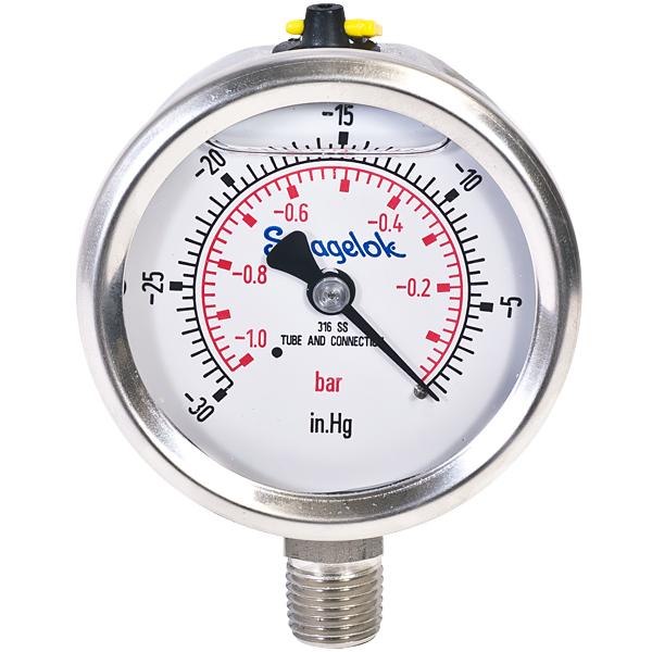 2in 30in Hg Vac to 0 Vacuum Gauge