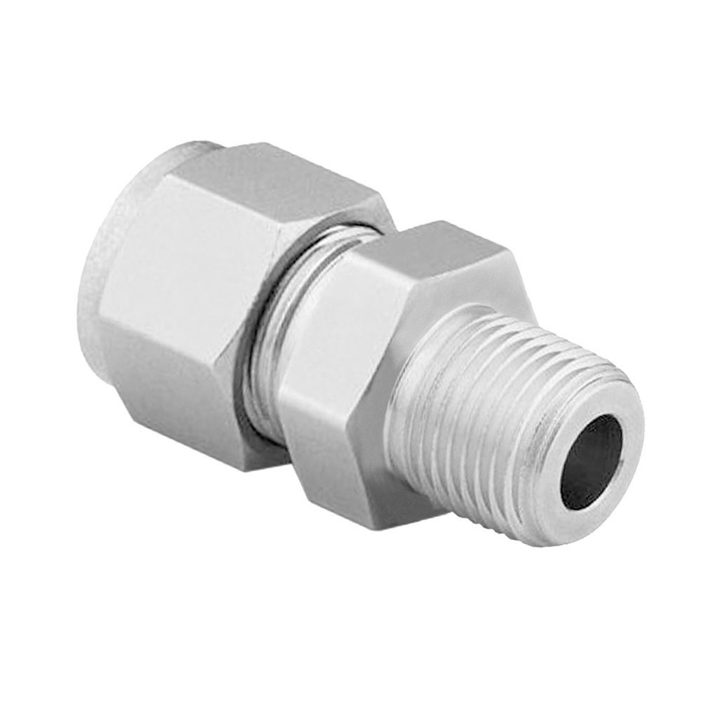 Swagelok SS-400-1-4 Stainless Steel Tube Fitting 1//4 Male NPT Male Connector 1//4 Tube OD