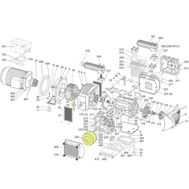 Busch Vacuum Pump Parts Diagram