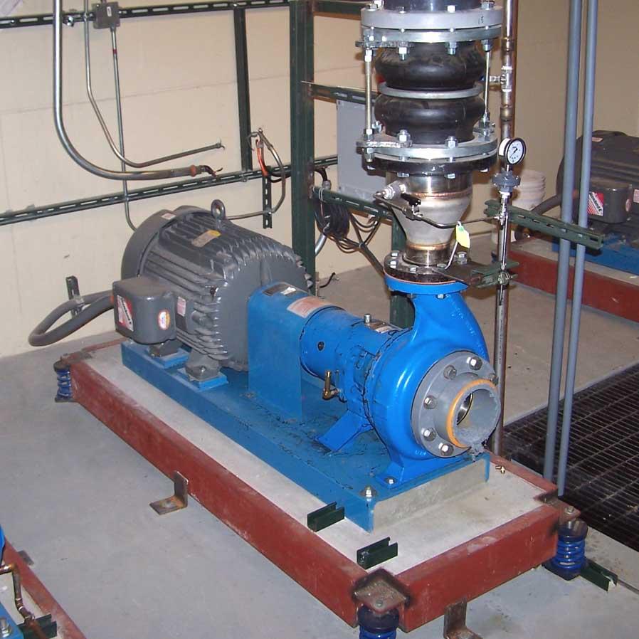 Ingersoll Dresser Grp 6 X 4 10 Centrifugal Liquid Pump System With Baldor 75 Hp Motor Rebuilt